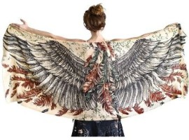 Exquisitely Soft Shovava Women Wings Scarf Silk for those who love birds 2